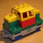Lego Duplo Lok Diesel Grün